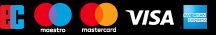 We accept EC, Maestro, Mastercard, Visa and American Express